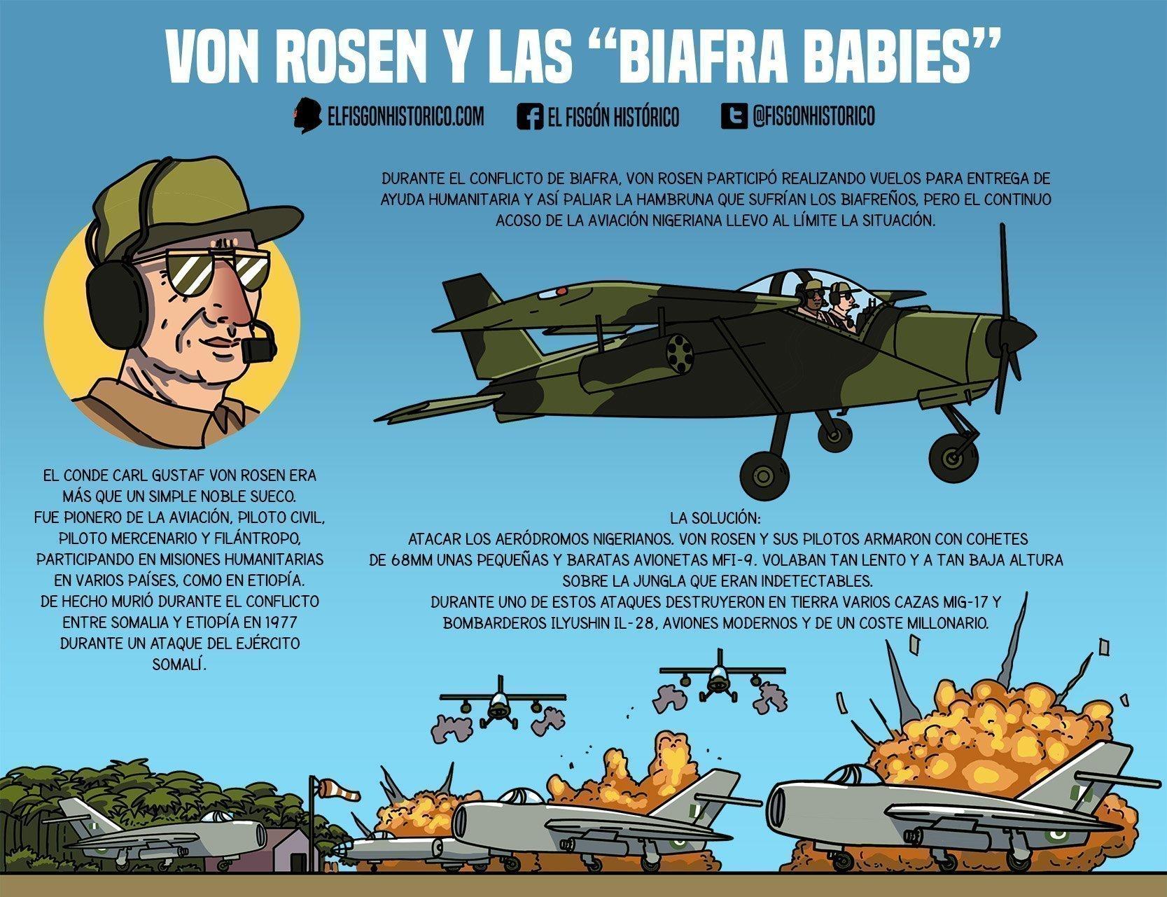 """Von Rosen y las """"Biafra Babies"""""""