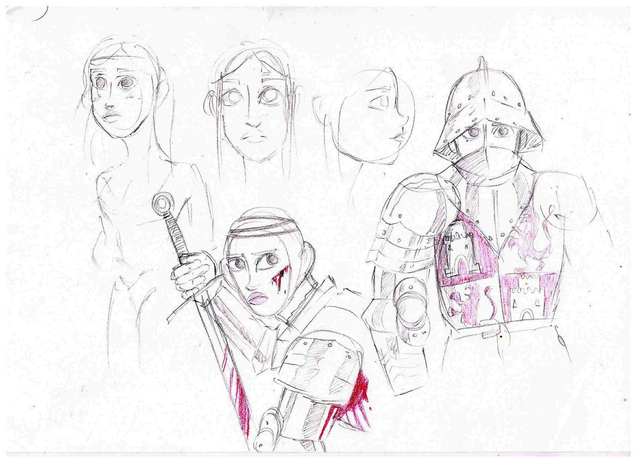 Primer boceto de La Dama de Arintero