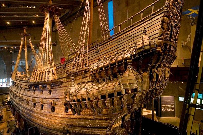 Vasa un buque de guerra recuperado para un museo Estocolmo (1)
