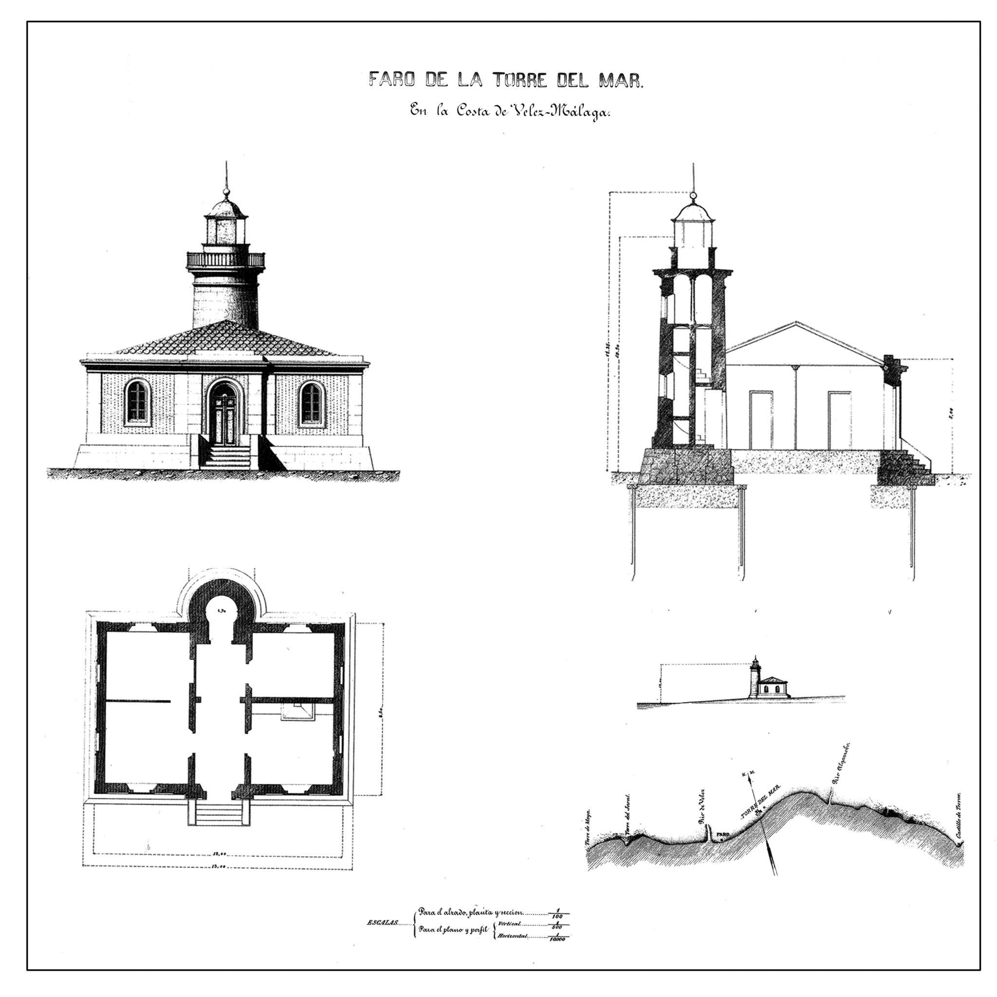 Planos originales del faro.